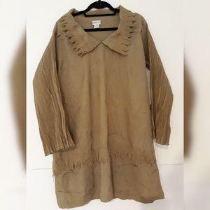 Ray Harris London Textured Light Brown Blouse